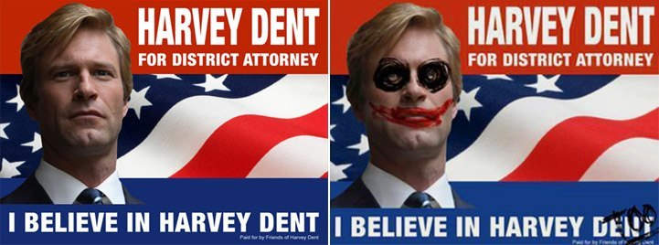 Before and after Harvey Dent