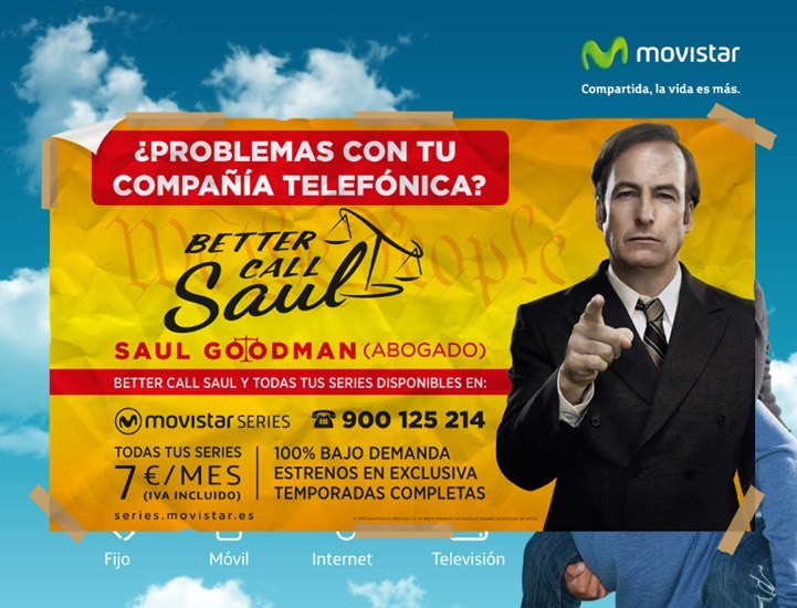 "El guiño de Movistar Series en la serie ""Better call Saul"""