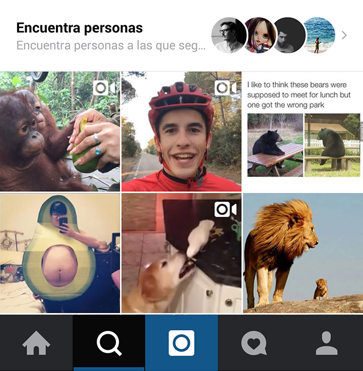 instagram discover tab
